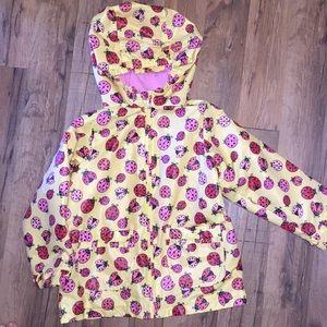 Girls ladybug rain jacket with hood